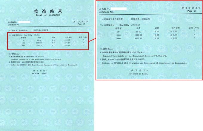 摩擦色牢度测试仪校准证书结果页图片